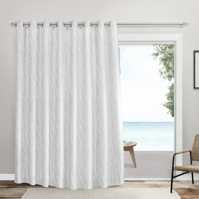 """108""""x96"""" Forest Hill Patio Room Darkening Blackout Grommet Top Patio Curtain Panels - Exclusive Home"""