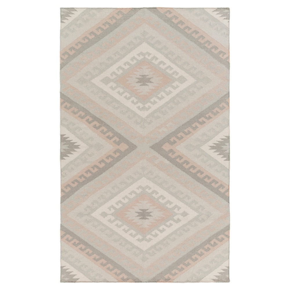 Ivory Solid Woven Accent Rug - (2'X3') - Surya