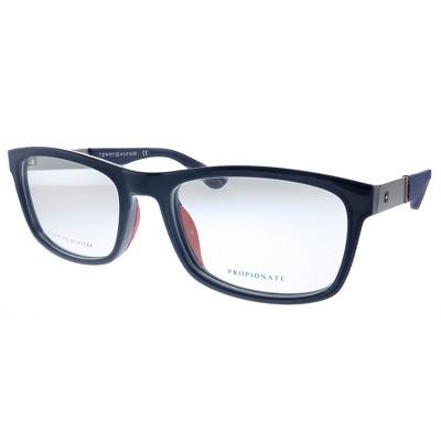Tommy Hilfiger TH 1522 PJP Unisex Rectangle Eyeglasses Blue 54mm