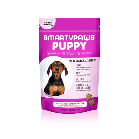 SmartyPaws Puppy Dog Supplements - Peanut Butter Flavor - 60ct - image 1 of 4