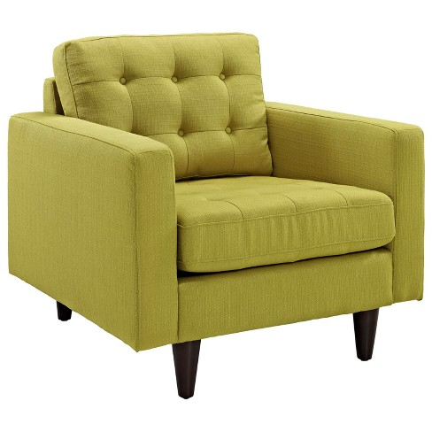 Empress Upholstered Armchair Wheatgrass - Modway - image 1 of 5