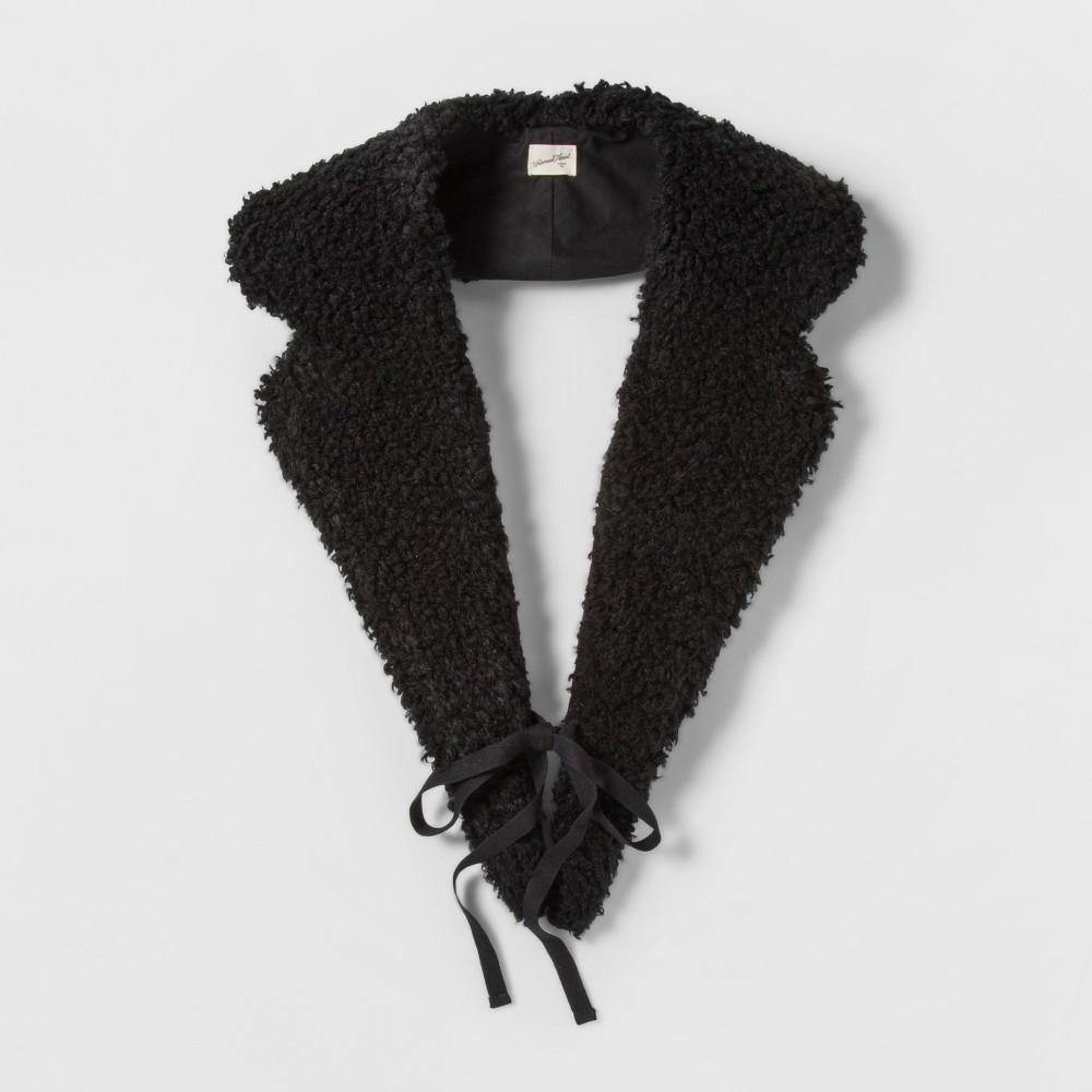 Women's Faux Sherpa Collar - Universal Thread Black