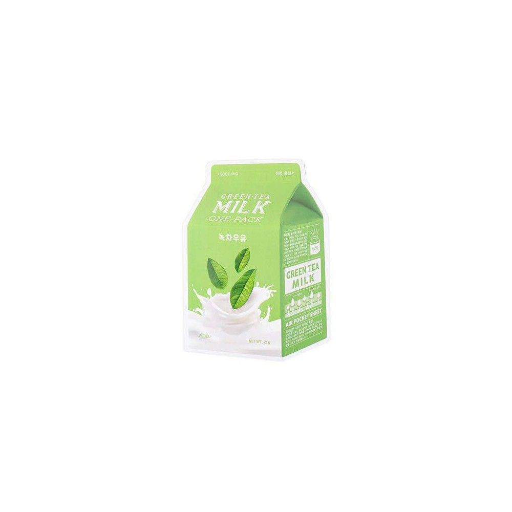 Image of A'PIEU Green Tea Milk Soothing Sheet Mask - 0.74oz