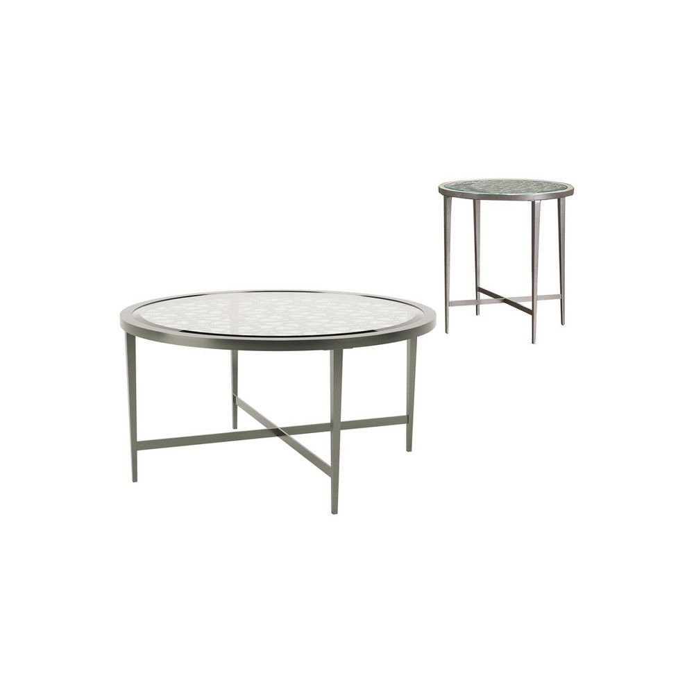 Compare 2pc Harding Coffee Table Set Silver - miBasics