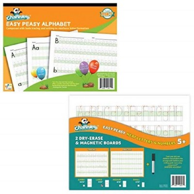 Easy Peasy Alphabet Workbook and 2pk Dry-Erase & Magnetic Boards Kit - Channie's