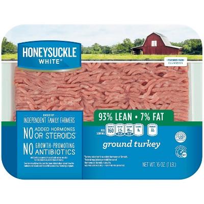 Honeysuckle White Fresh 93% Lean Ground Turkey - 1lb