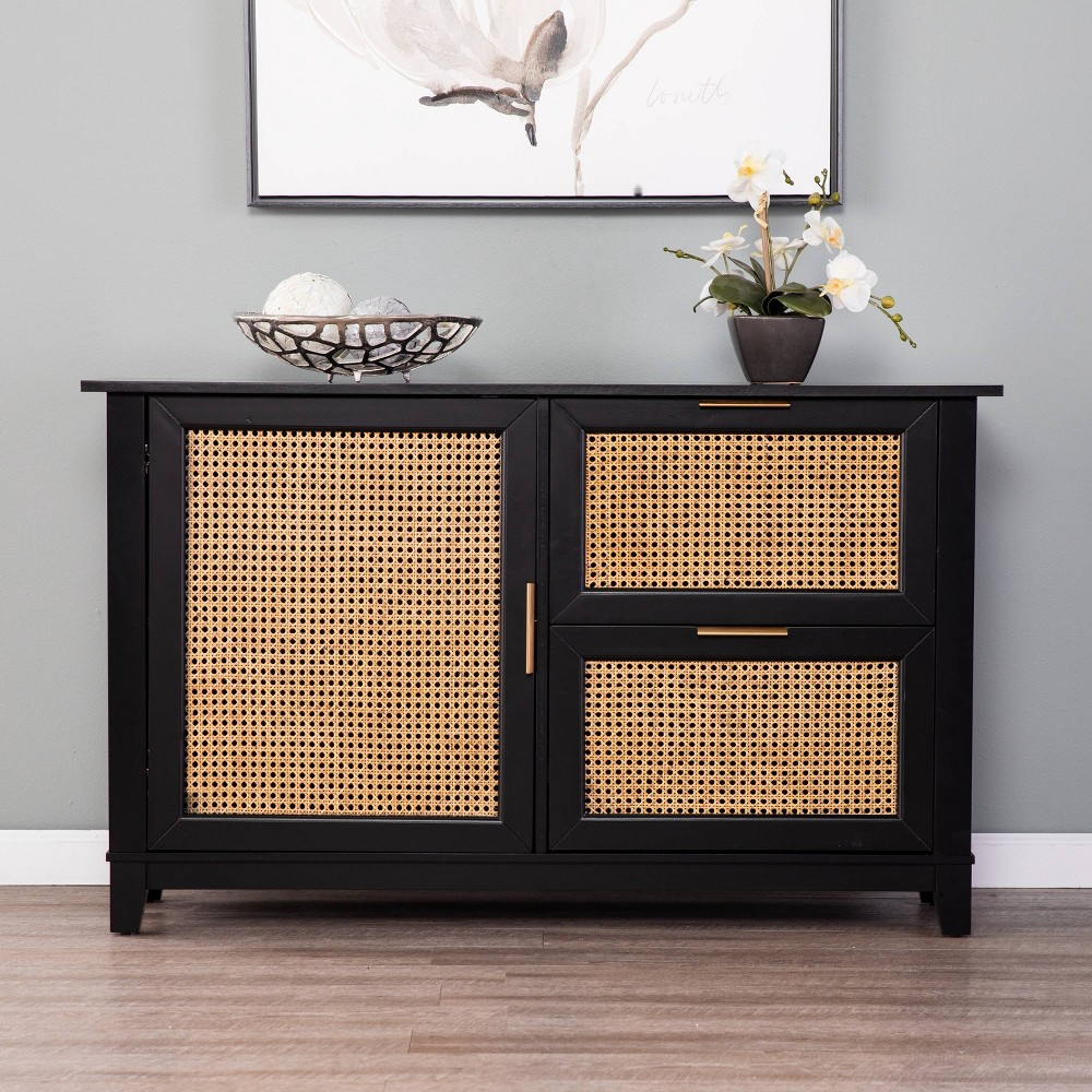 Image of Chekshire Anywhere Storage Cabinet Black/Natural - Holly & Martin