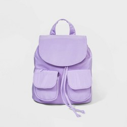Flap Closure Drawstring Backpack - Wild Fable™ Lilac