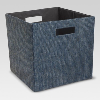 13  Fabric Cube Storage Bin Blue - Threshold™