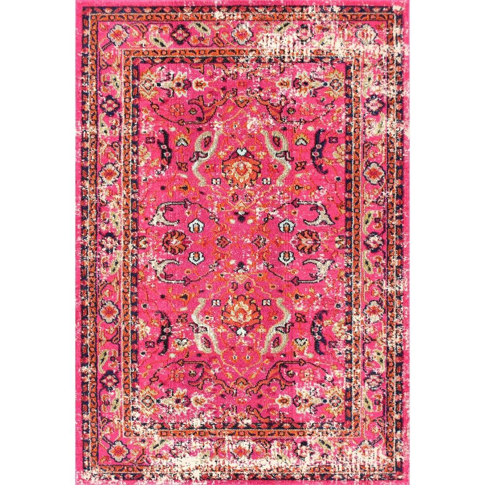 Pink Solid Loomed Area Rug - (7'10x11') - nuLOOM