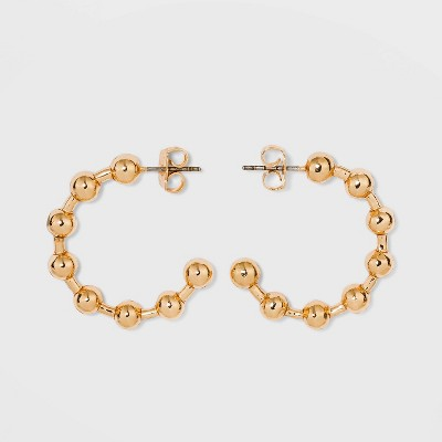 Gold Ball Hoop Earrings - A New Day™ Gold