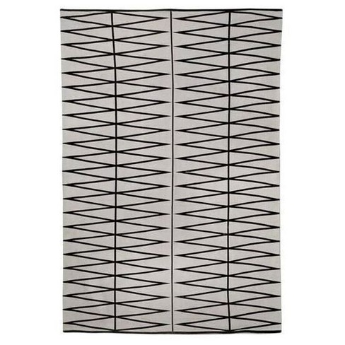 "Cotton Rug (78"" x 55"") - Gray/Black - 3R Studios - image 1 of 1"