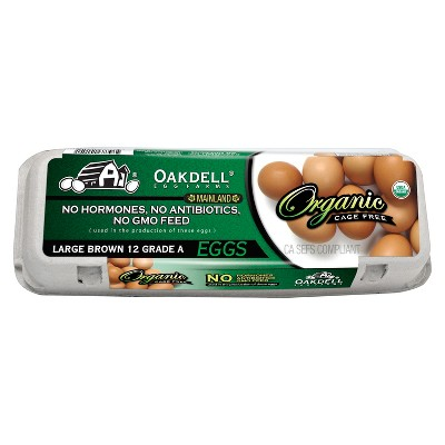 Oakdell Organic Cage-Free Grade A Large Brown Eggs - 12ct