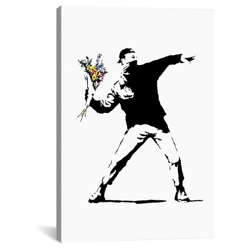 Rage Flower Thrower by Banksy Canvas Print - image 1 of 2