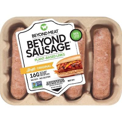 Beyond Meat Beyond Sausage Plant-Based Brat Original Dinner Sausage Links - 14oz