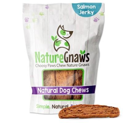 Nature Gnaws Salmon Jerky Strips Dog Treats - 8oz
