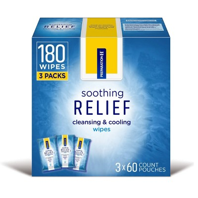 Preparation H Hemorrhoid Cooling and Soothing Wipes - 180ct