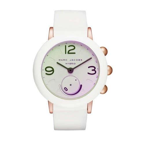 Marc Jacobs Riley Hybrid 42mm Smartwatch - White Nylon & Rose Gold Aluminum - image 1 of 6