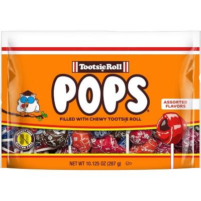 Tootsie Pops Assorted Flavor Lollipops Standup Bag – 10.125oz