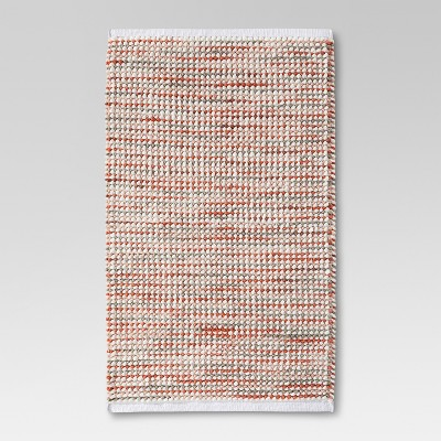 Chenille Stripe Bath Rug Coral - Threshold™