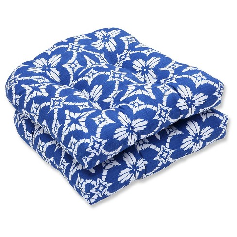 Pillow Perfect Aspidoras Cobalt Outdoor Cushion Set - Blue - image 1 of 1