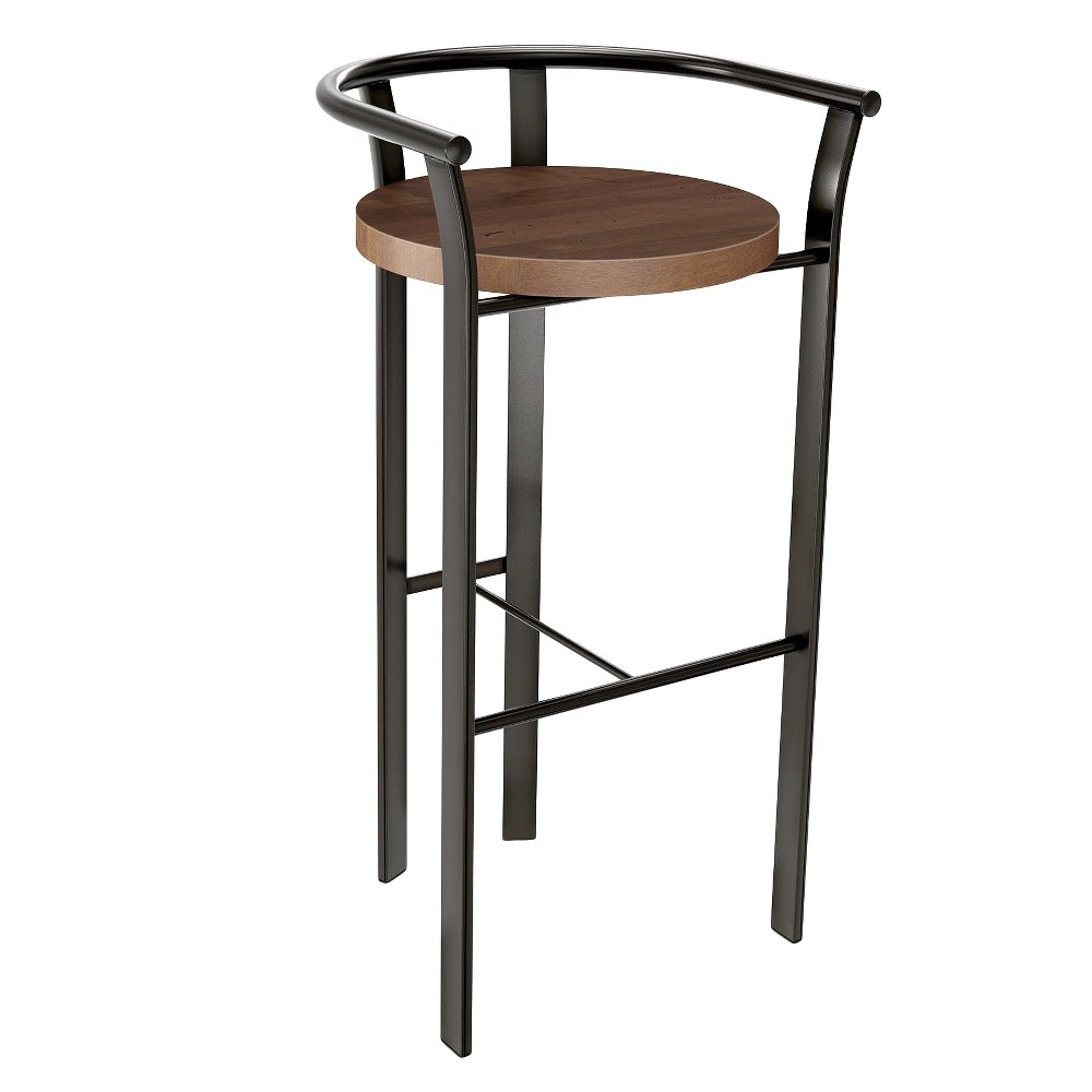 Rendezvous 30.5 Barstool - Gray/Brown - Amisco