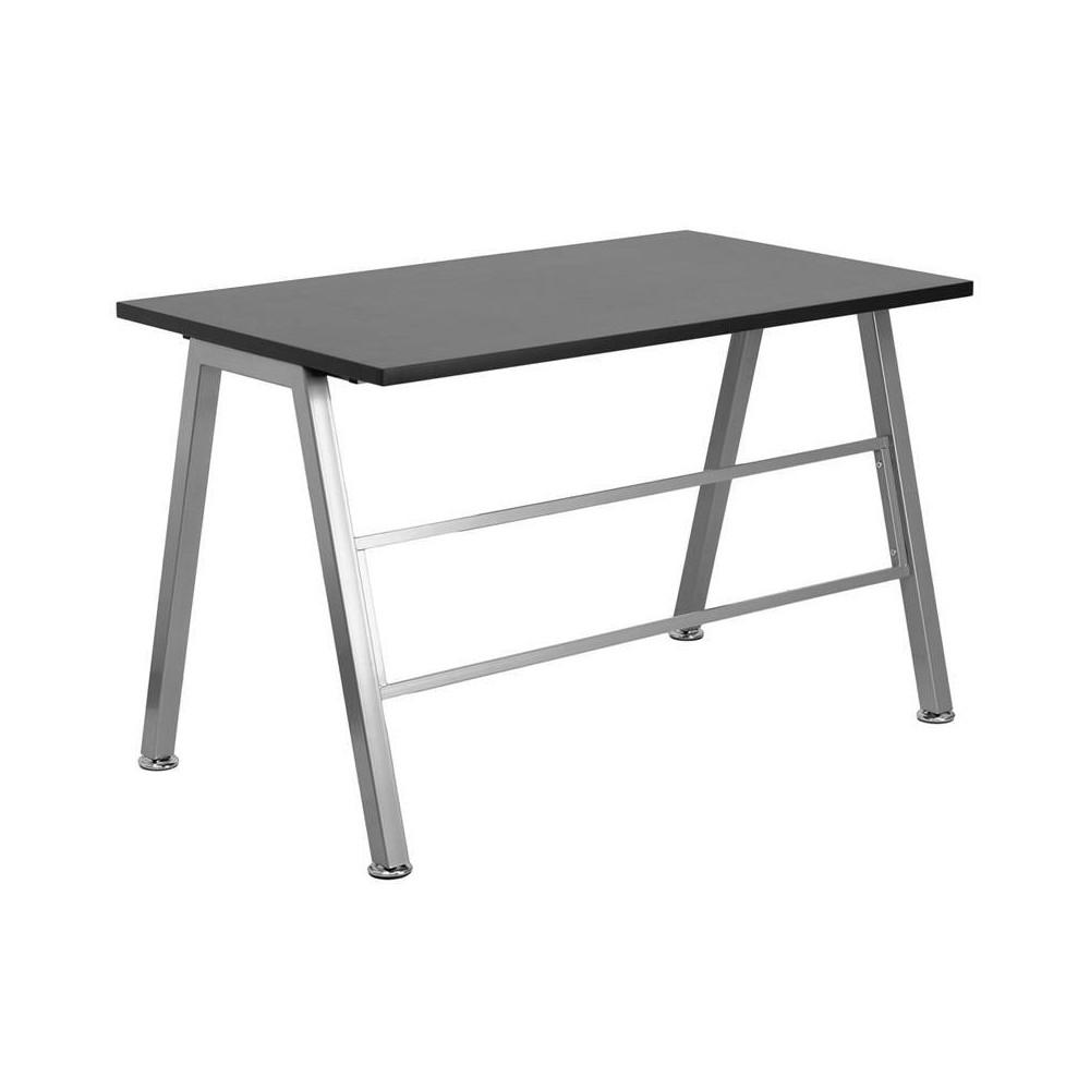 High Profile Desk - Flash Furniture, Silver