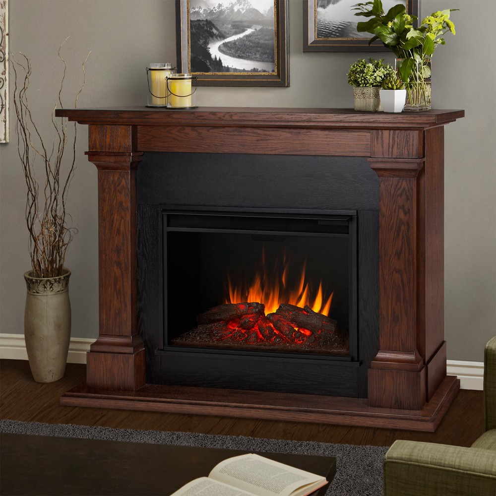 Real Flame Callaway Grand - Chestnut Oak, Brown
