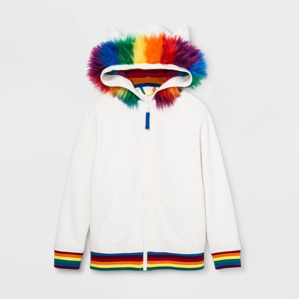 Low Price Pride Kids Sweatshirt Almond Cream S Kids Unisex White