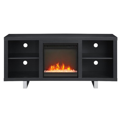 """Simple Modern Fireplace Console TV Stand for TVs up to 65"""" Black - Saracina Home"""