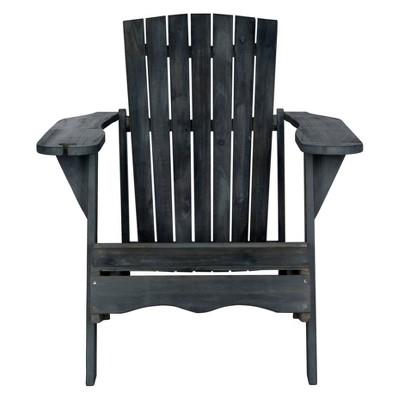 Vista Wine Glass Holder Adirondack Chair Dark Gray - Safavieh