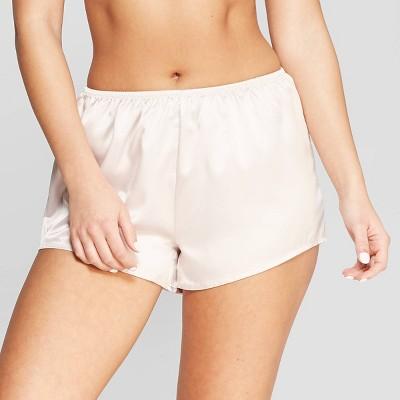 Women's Satin Pajama Shorts - Stars Above™ Pink XL