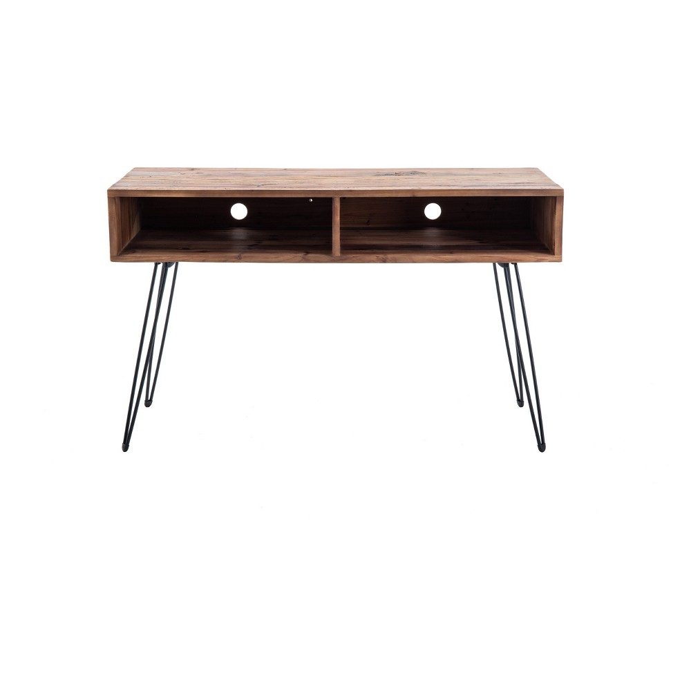 East 48  Media Console Reclaimed Brown - Crawford & Burke Effortless style and storage are offered in the East 48  Media Console from Crawford and Burke. This wood and metal console table is the perfect addition to any living room that needs a touch of personality, style and organization. Keep your favorite games, devices and TV accessories nearby in this small console table that won't take up much space. Generous space underneath allows you to store extra linens, an ottoman or other infrequently-used items, making this ideal for a stylish small apartment. Color: Brown. Gender: unisex.