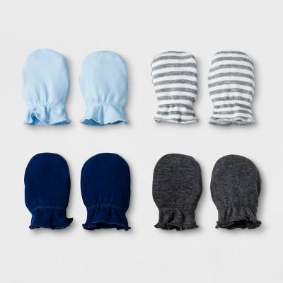 Baby Boys' 4pk Mittens - Cloud Island™ Blue OSZ