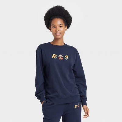 Women's Smokey Bear Graphic Sweatshirt - Navy