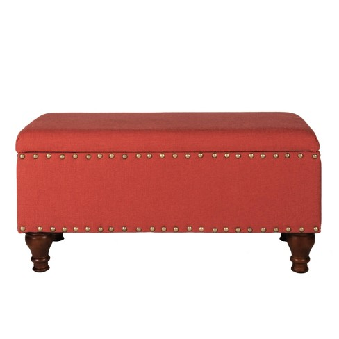 Large Rectangle Storage Bench with Nailhead Trim - HomePop - image 1 of 8