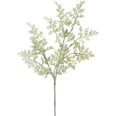 "Allstate Floral 18"" Green Dusty Miller Artificial Fern Spray"