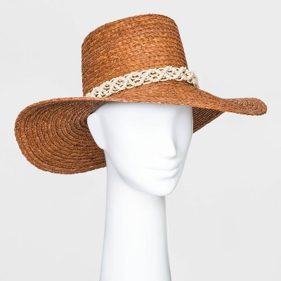 Women's Straw Boater Hats - Universal Thread™ Berry One Size