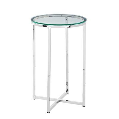 "16"" X Base Glam Round Side Table - Saracina Home"
