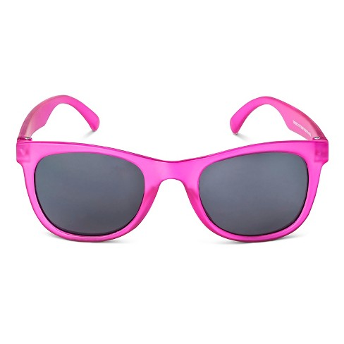 Girls' Frosted Rectangle Sunglasses Pink - Circo™ - image 1 of 1