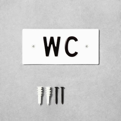 'WC' Wall Sign White/Black - Hearth & Hand™ with Magnolia