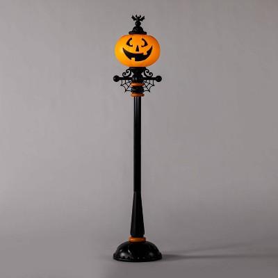 "71"" Lit Pumpkin Street Lamp Halloween Decorative Holiday Scene Prop - Hyde & EEK! Boutique™"