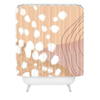 Aleeya Jones Modern Abstract Nudes Shower Curtain Beige - Deny Designs