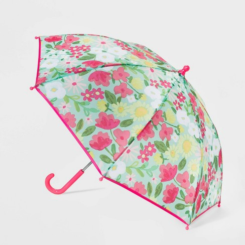 Girls' Floral Print Stick Umbrella - Cat & Jack™ - image 1 of 2