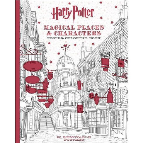 Harry Potter Magical Places & Characters Poster Coloring Book - by  Scholastic (Paperback)