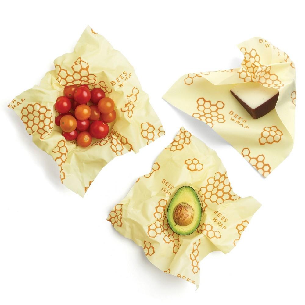 Bee 39 S Wrap Medium 3pk Eco Friendly Reusable Food Wraps Sustainable Plastic Free Food Storage