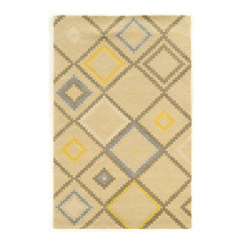 Gray Foundations Wool Stitch Loomed Rug - Linon - image 1 of 1