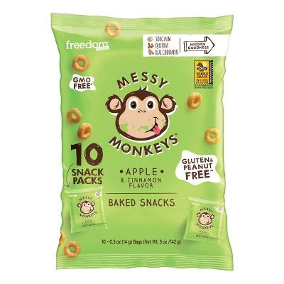 Messy Monkeys Apple Cinnamon Baked Snacks - 0.5oz