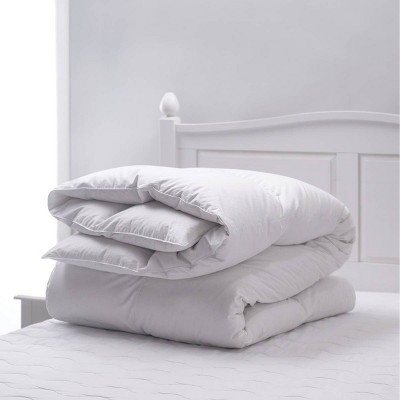 Natural Prime Feather Fiber Comforter White - Weatherproof