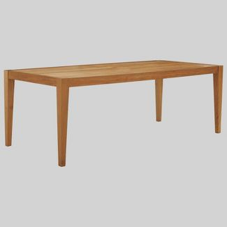 Northlake Outdoor Premium Grade A Teak Wood Patio Dining Table White - Modway